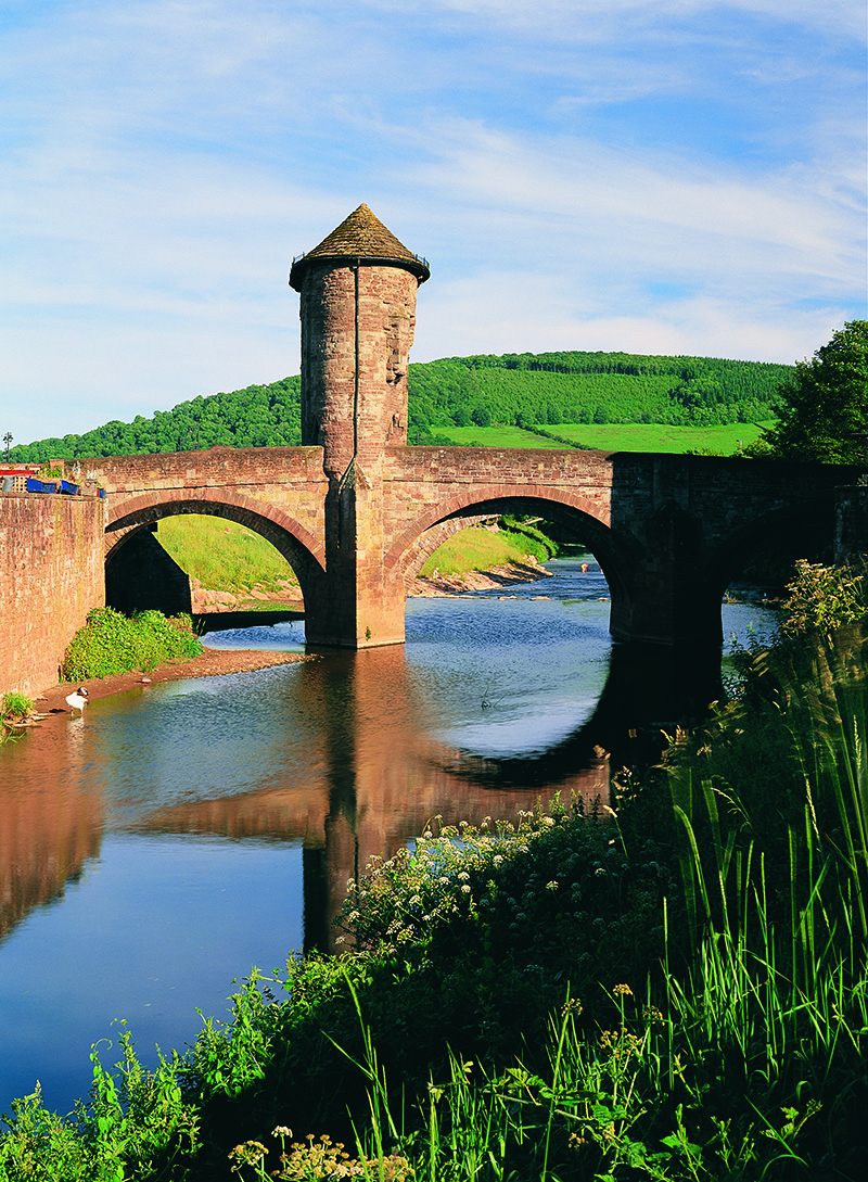 Monnow Bridge Monmouth Crown copyright (2014) Visit Wales