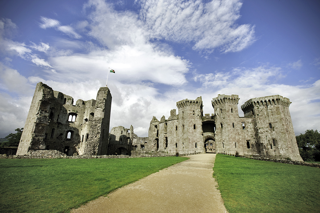 Raglan Castle (Photo: Crown Copyright (2014) Cadw)