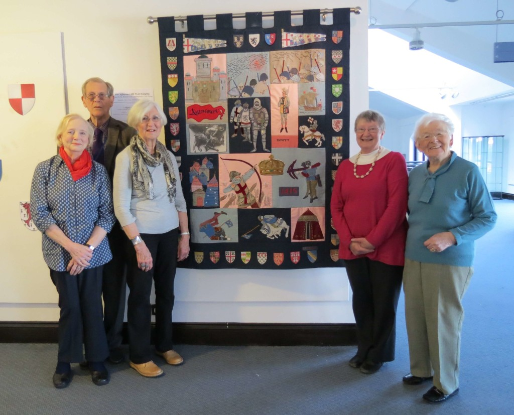The U3A Brecon Wall hanging in the Agincourt exhibition