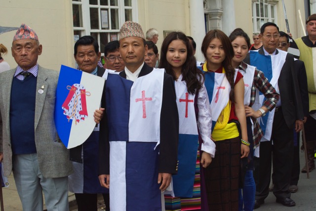 Nepalese Community Group representing Brecon contingent
