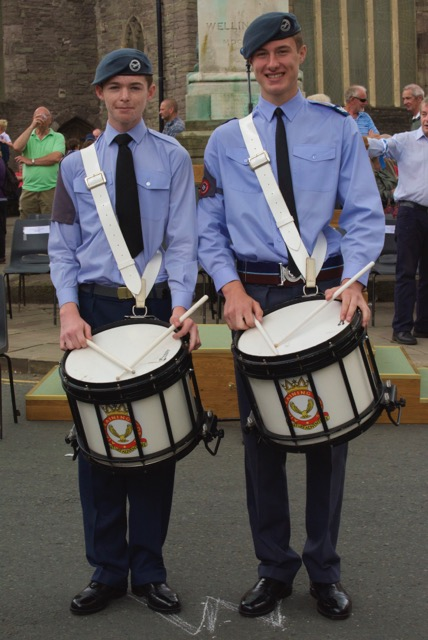 248 Sqadron Abergavenny Air Cadets L to R Tom Holley, Nathan Ford