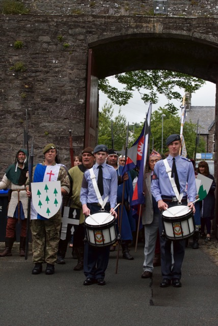 Arrival of Parade at Brecon Cathedral