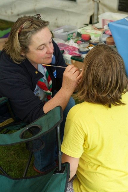 Face painting at children's workshop
