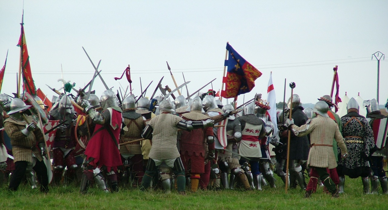 Freement of Gwent - Azincourt re-enactment July 2015 - 1
